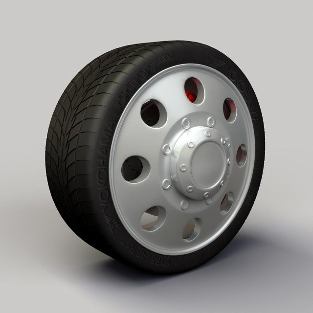 Wheel Alloy Ion 167 rims and tyre 3D Model