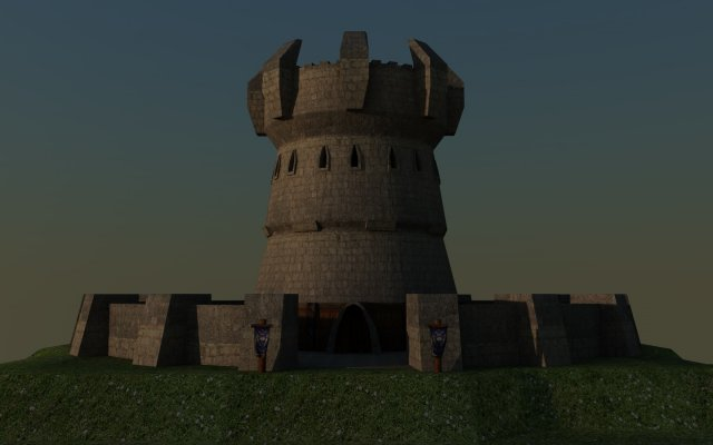 World of Warcraft Alliance Guard Tower 3D Model