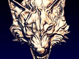 WOLF  basrelief