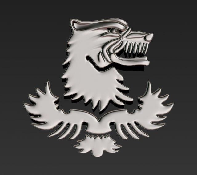 Wolf emblem riot police 3D Model