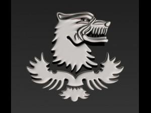 Wolf emblem riot police