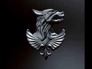 Emblem Russian wolfriot police bas