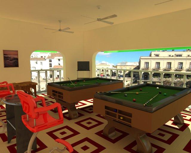 Billiard Alley Set 3D Model