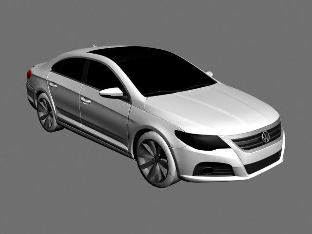 Volkswagen passat cc 3D Model
