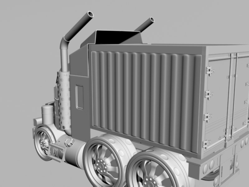 Mini truck 3D Model in Truck 3DExport