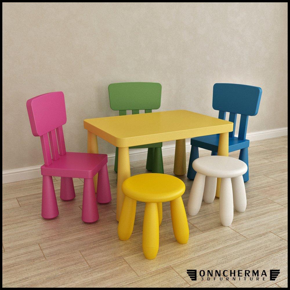 Ikea Mammut Furniture Set Kids 3d Model In Chair 3dexport