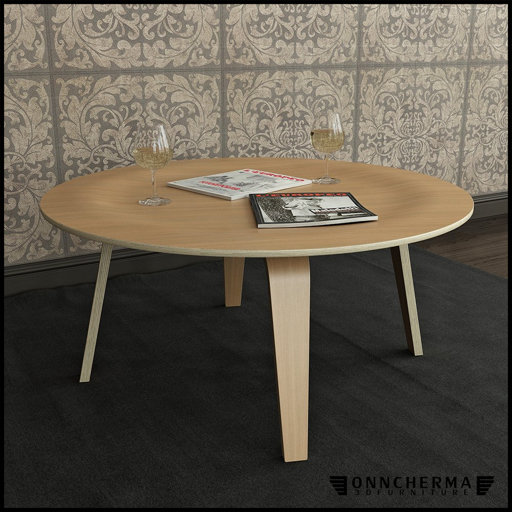 Coffee Table Eames Molded Plywood 3D Model