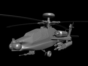 AH64D Apache Longbow Attack Helicopter 3D HighPoly