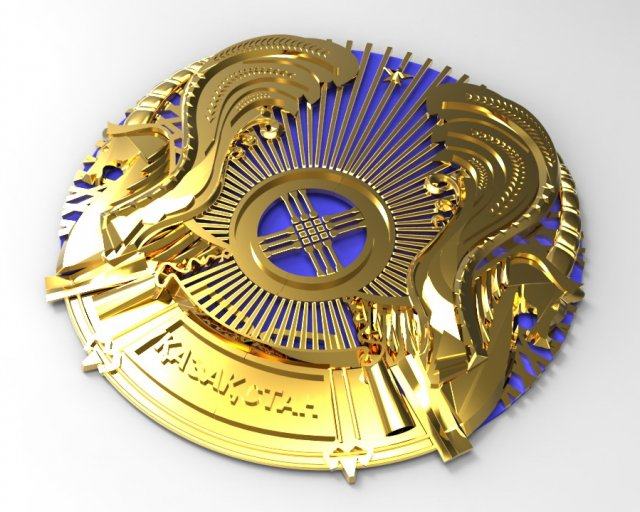 Coat of Arms of Kazakhstan 3D Model