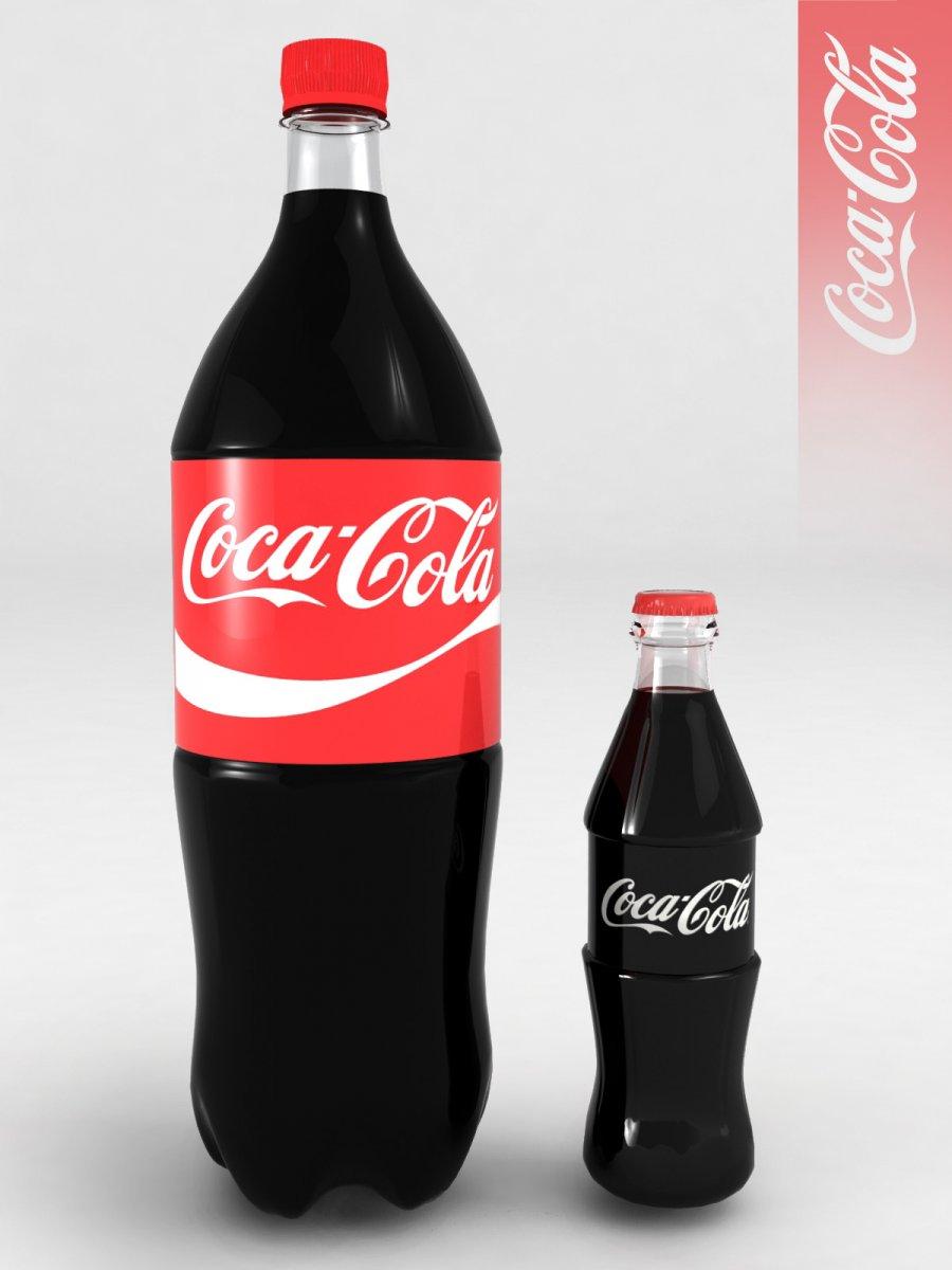 Bottle CocaCola 033l plastic bottle 2l 3D Model in Vegetable 3DExport