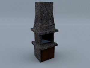 Stone Grill with Fireplace 02