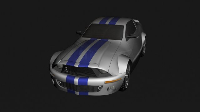 Ford Mustang GT500 3D Model