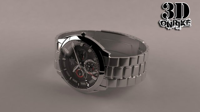 The Watch Casio WR100 3D Model
