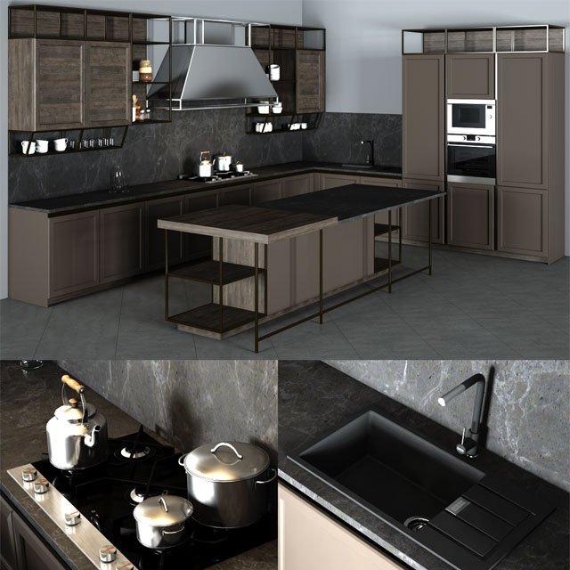 Frame Snaidero Kitchen Furniture 3d Model In Kitchen 3dexport