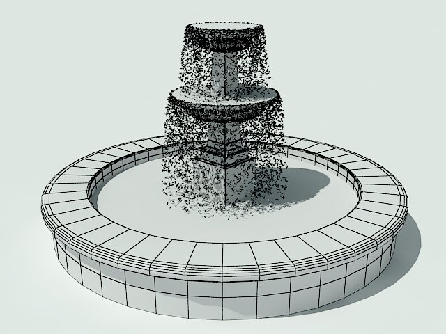 Animated fountain 3D Model in Miscellaneous 3DExport