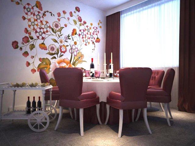 Restaurant Space 033 3D Model