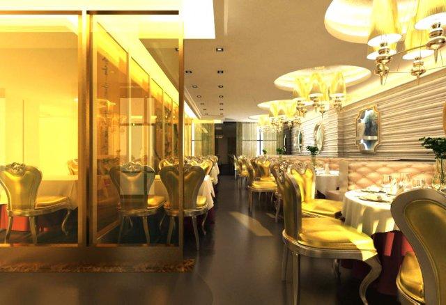 Restaurant Space 058 3D Model