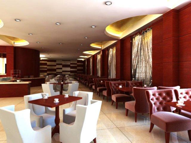Restaurant Space 077 3D Model