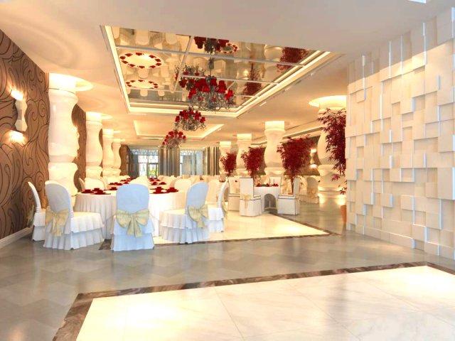 Restaurant Space 093 3D Model