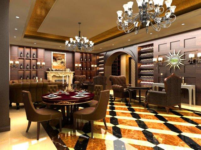 Restaurant Space 097 3D Model