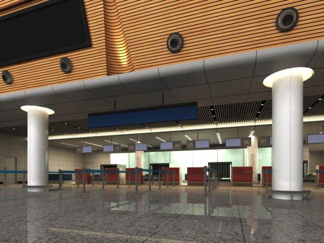 Lobby Space 093 3D Model