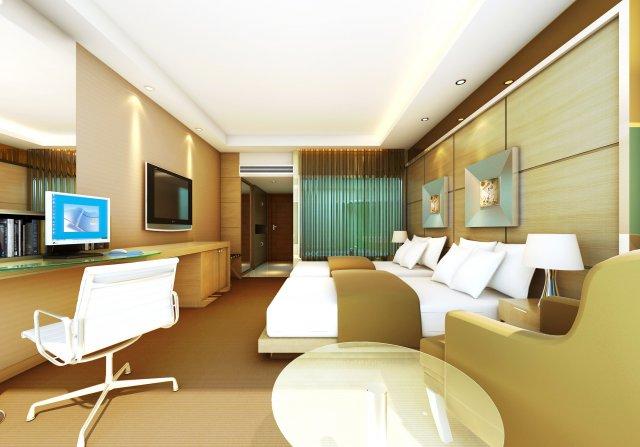 Guest Room 055 3D Model