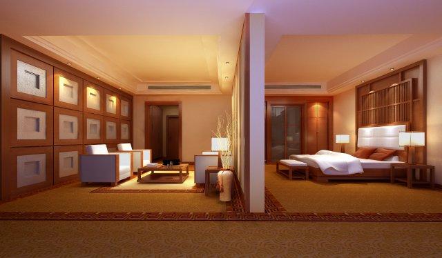Guest Room 061 3D Model