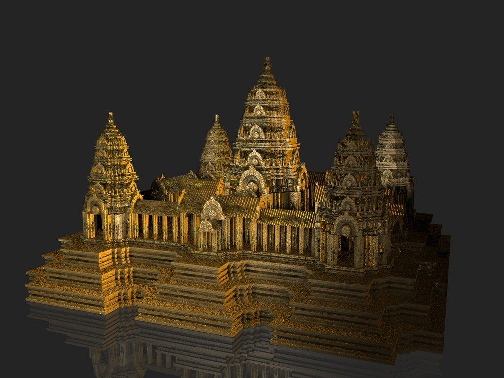 Cambodia angkor wat 3d model in landmarks 3dexport malvernweather Gallery
