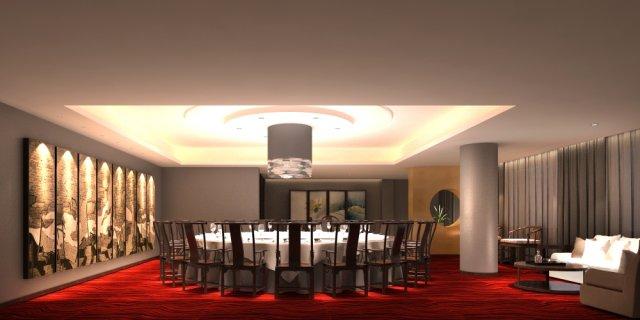 Restaurant Spaces 055 3D Model