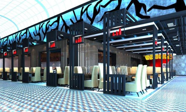 Restaurant Spaces 015 3D Model