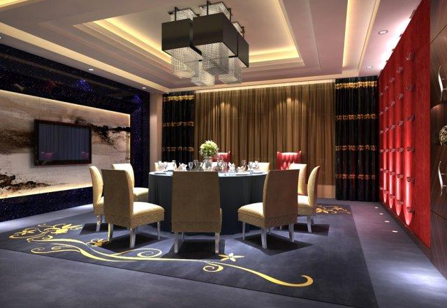 Restaurant Spaces 048 3D Model