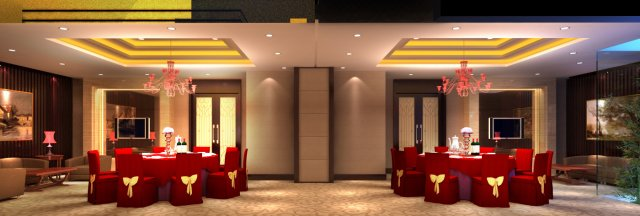 Restaurant Spaces 058 3D Model