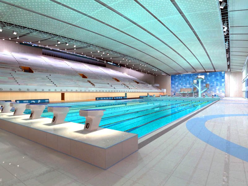 Indoor Swimming Pool Gym gym 05 indoor swimming pool 3d model in bar 3dexport
