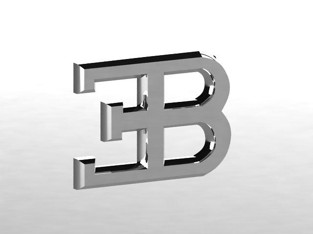 Bugatti Logo 3d Model In Parts Of Auto 3dexport