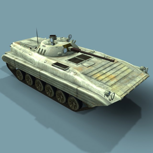 BMP2M Russian Infantry Vehicle 3D LowPoly 3D Model