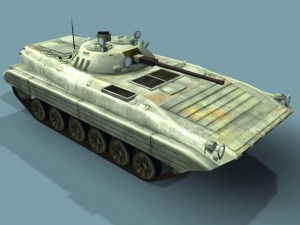 BMP2M Russian Infantry Vehicle 3D LowPoly