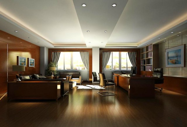 Office spaces 055 3D Model
