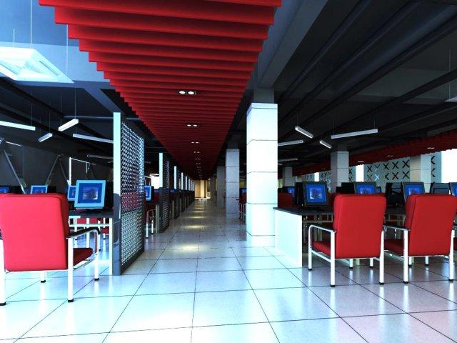 Internet bar 001 3D Model