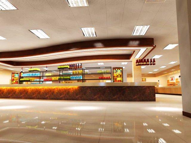 Restaurant 048 3D Model