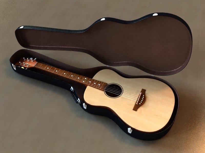20ed2d6f0f Guitar Case 3D Model in Guitar 3DExport