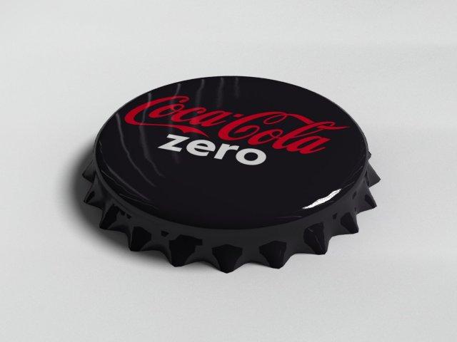 Cola Zero Bottle Tin Cap 3D Model