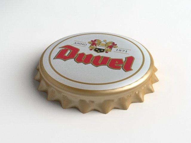 Duvel Beer Bottle Tin Cap 3D Model