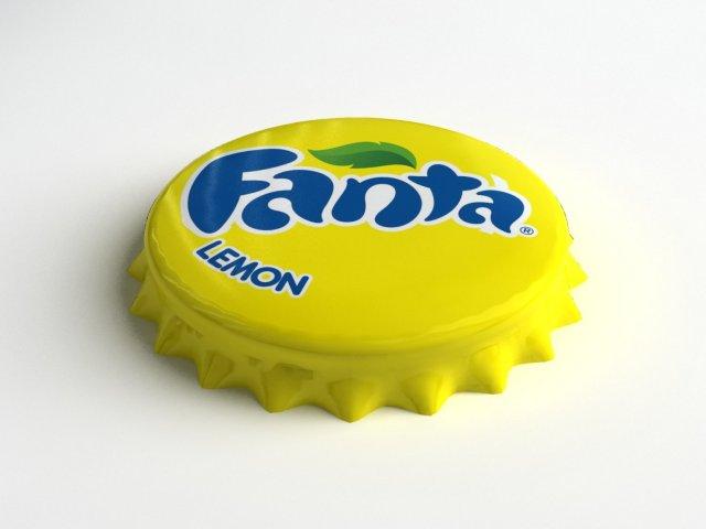 Fanta Lemon Bottle Tin Cap 3D Model
