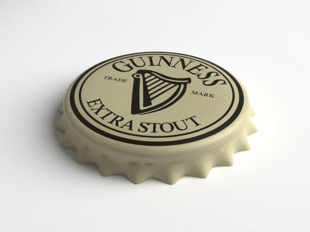 Guinness Beer Bottle Tin Cap 3D Model