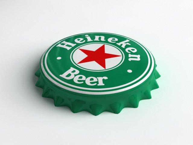 Heineken Bottle Tin Cap 3D Model