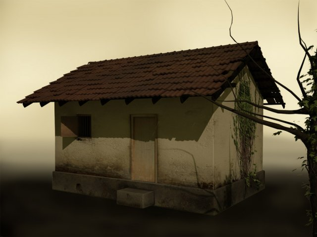 Old small house south asian style 3D Model