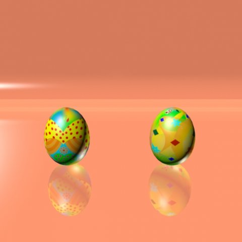 Easter Eggs Set 07 3D Model