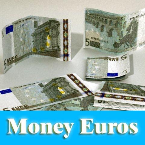 5 Euro Paper Money 3D Model