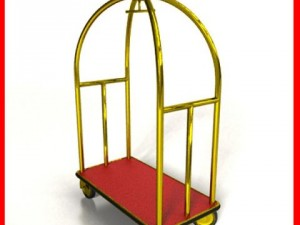Hotel Luggage Cart High Detail Realistic