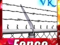 Chainlink fence Barbed wire High detail